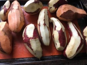 Mix of Sweet and Murasaki Potatoes Baked